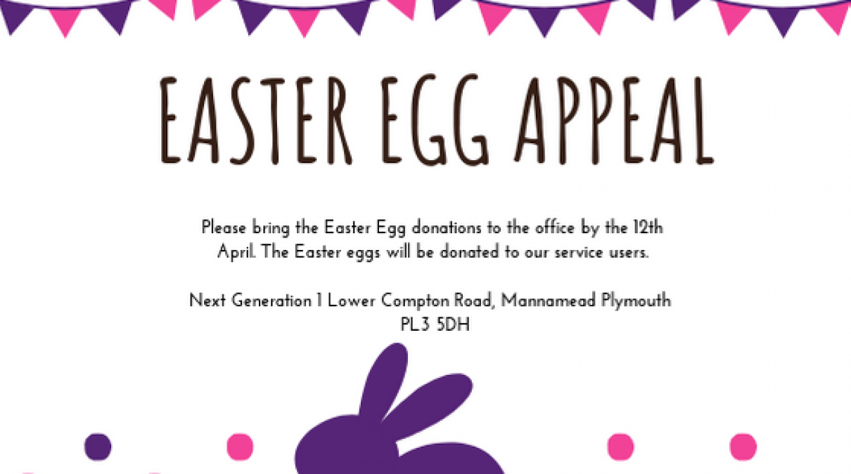 Easter Egg Appeal and a competition.