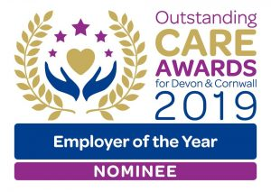 Outstanding Care Awards Employer of the year nominee